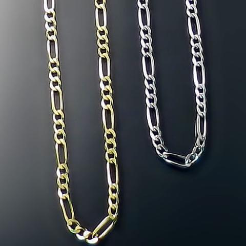 Figaro style jewelry